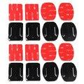 16 шт./лот плоская выгнутая пластина крепление на клейкой основе 3M VHB наклейки для GoPro Hero 8 7 6 5 4 спортивной экшн-камеры Xiaomi yi 4K SJCAM SJ4000 eken набор аксессуаров - фото