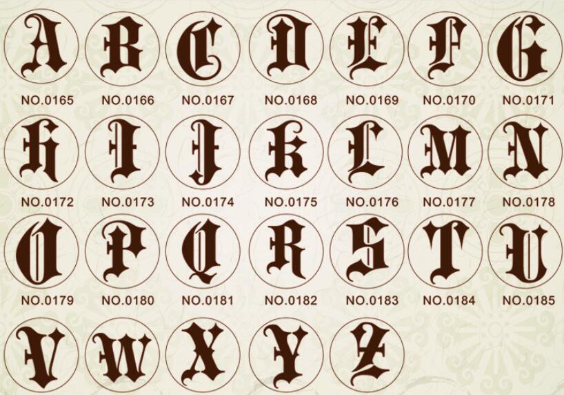 Wax Stamp Copper head Curlicue 26 Letters DIY Scrapbooking Vintage wax sealing stamp wedding/party invitation/envelop gift seal5