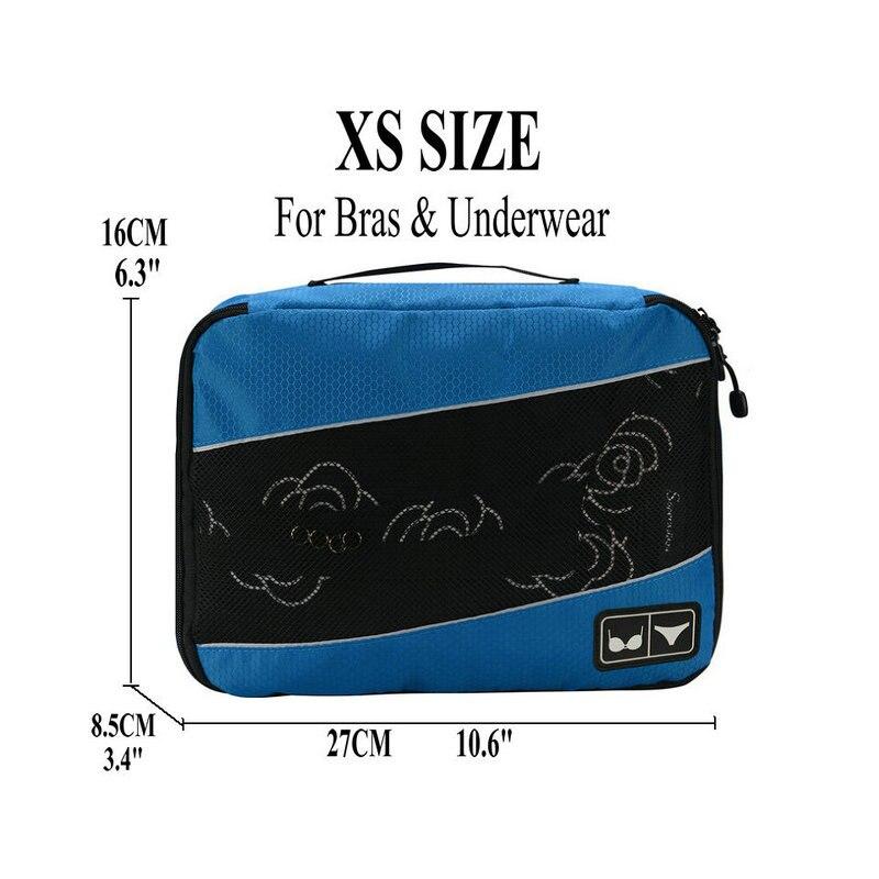 Soperwillton упаковочные кубики, нейлоновая дорожная сумка-Органайзер, Воздухопроницаемая сетчатая дорожная сумка для мужчин и женщин, органайзер для путешествий - Цвет: Blue XS