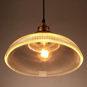 Image 3 - Vintage Pendant Lights Glass luminaire Loft Retro Hanglamp Creative Industrial deco maison Lighting Fixtures E27 Restaurants Bar
