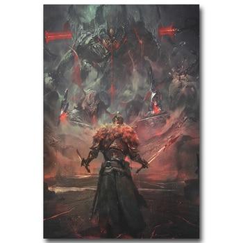 Шелковый Плакат Гобелен Dark Souls Вариант 4