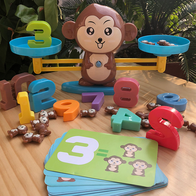 Early Math Educational Tool Monkey Balanced Digital Counting Up Teaching Children And Family Board Games
