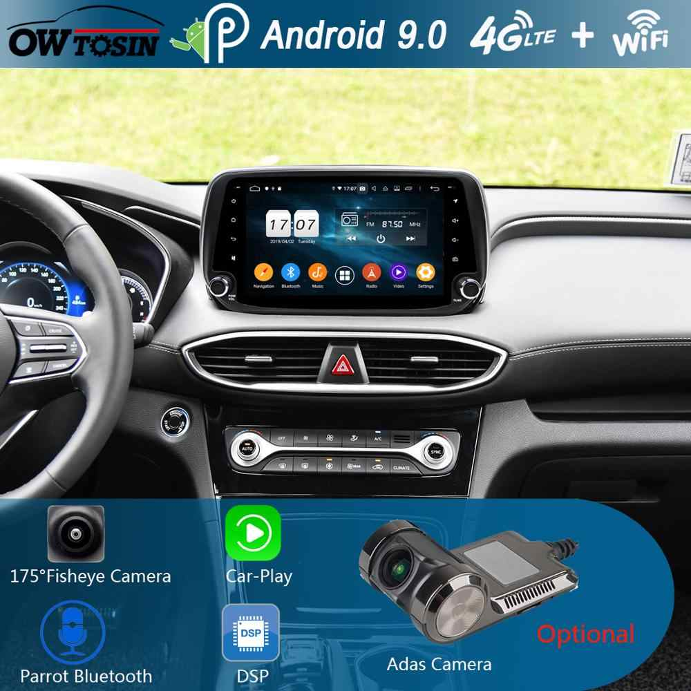 "9 ""IPS 8 Core 4 GB + 64 GB Android 9.0 Auto Multimedia Speler Voor Hyundai IX45 Santa FE XL 2018 2019 GPS Radio Stereo Papegaai BT CarPlay"