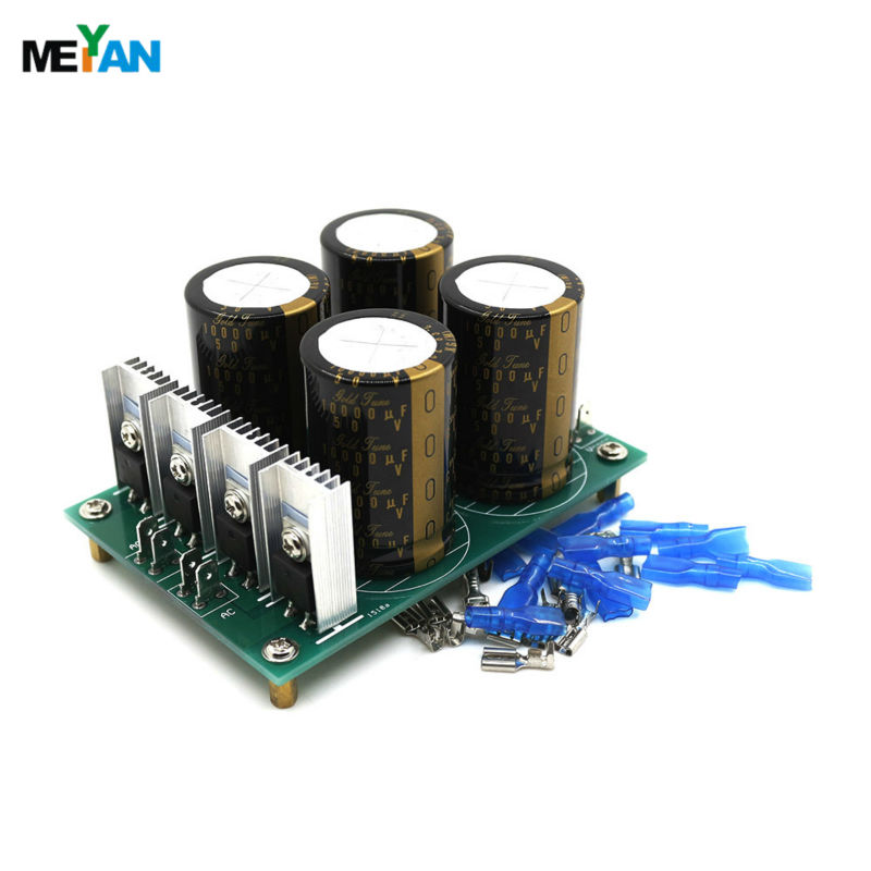 ФОТО HPO Audio amplifier power supply board 30A Nichicon Type I 10000uF 50V X4 Diode Rectifier Filter