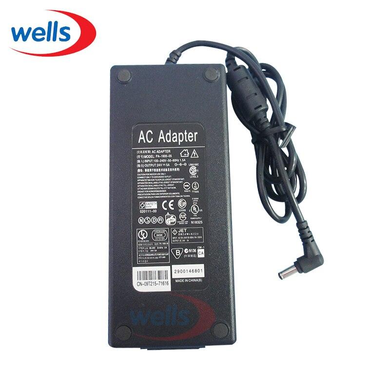 цена на LED Driver AC DC 24V 5A 120W Power Supply UK US EU AU Plug For LED Strip Light Transformer Charger Converter 12v to 220v Adapter