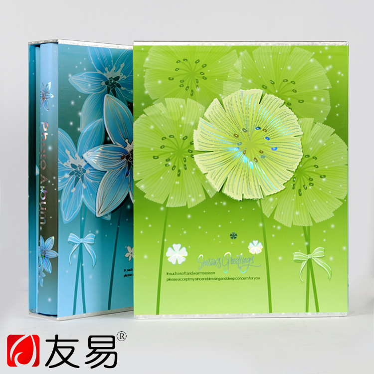 DIY 6 Inch 200Pcs Small Floral Cover Photo Album Wedding Photos Children Family Memory Record Album Sticky Lovers Gifts