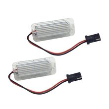купить 2Pcs 6000K White Error Free Car LED Number License Plate Lamp For  5D Fiesta Mondeo MK4 C-Max MK2 S-Max Kuga дешево
