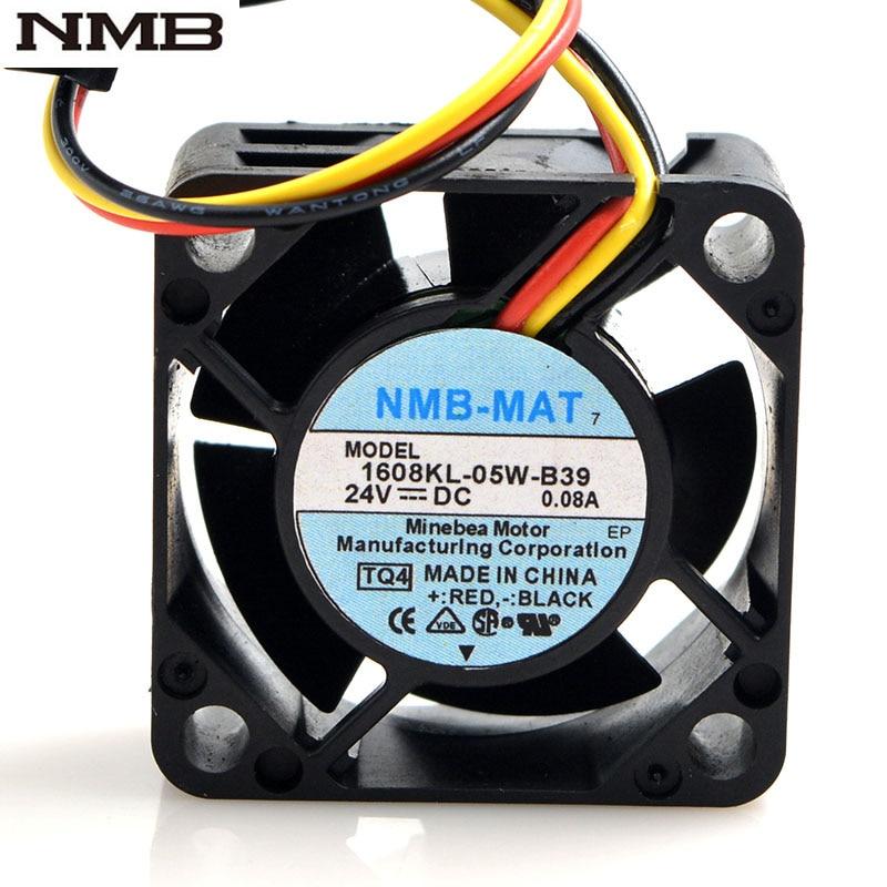 Original Para NMB 1608KL 05W B39 40*40*20mm 4020 24V pçs/lote 30 0.08A 8500RPM Para Fanuc ventilador à prova d águanmb fanfan 24vfan 4020 -