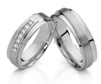 never fade custom health titanium mens and womens western matching wedding band white gold color couple rings