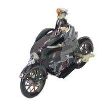 三輪車オートバイワインドアップインタラクティブパレードオートバイ時計仕掛け鉄ディスプレイオートバイ風アップおもちゃ面白い装飾品カラフ