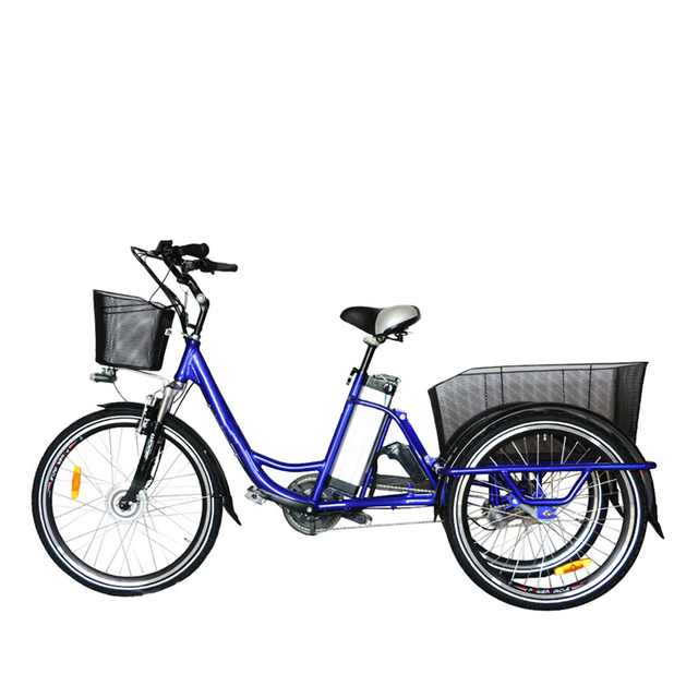 Electric Tricycle 26inch 36V10A 250W Electric Bicycle for one seat Aluminum Alloy Frame 3 wheels Electric Bike/Ebike Hot selling-in Electric ...
