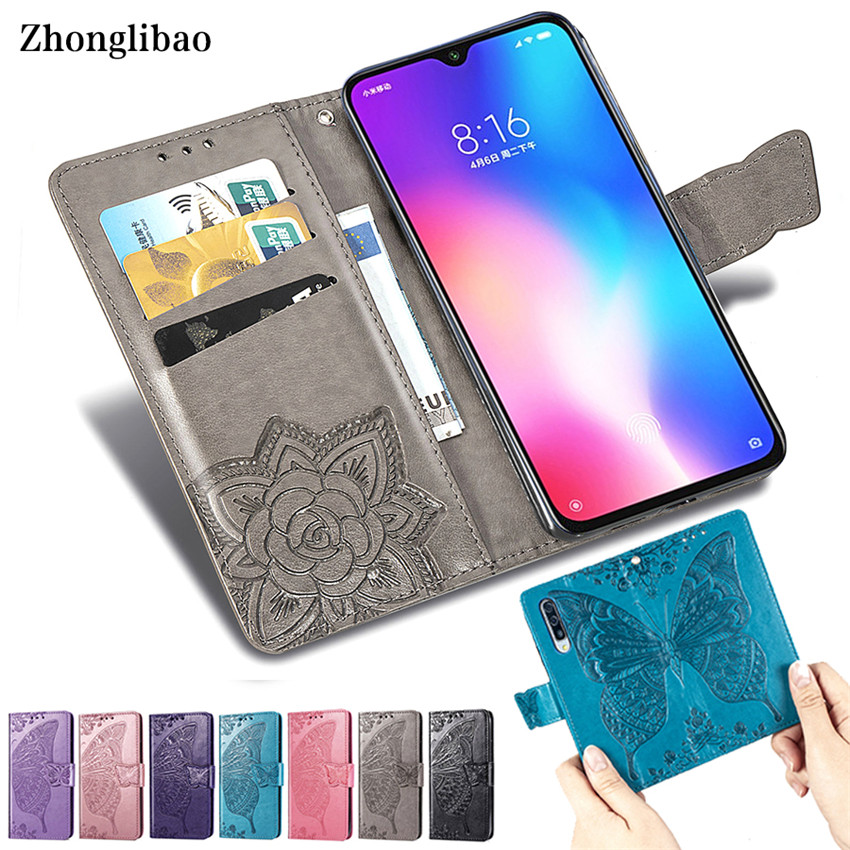 3D Luxury Leather Flip Case for Xiaomi Mi 9 Se 8 Lite Max 3 Pocophone F1 Play Magnetic Buckle Card Holder Wallet Stand Cover image