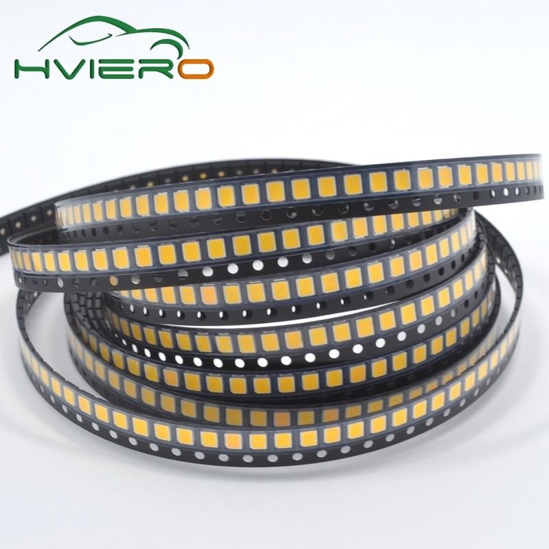 100PCS Warm White 2835 Ultra Bright 21-23LM SMD 3.0-3.2V 60ma SMT Diode LED 0.2W 21-23LM Patch Light Emitting Chip Diodes Leds