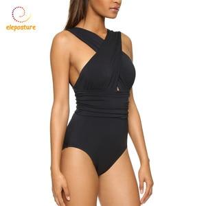Image 2 - قطعة واحدة ملابس السباحة 2020 مثير طقم سباحة حريمي السباحة الصيف ملابس الشاطئ ضمادة ارتداءها Monokini ملابس السباحة أسود أحمر XL