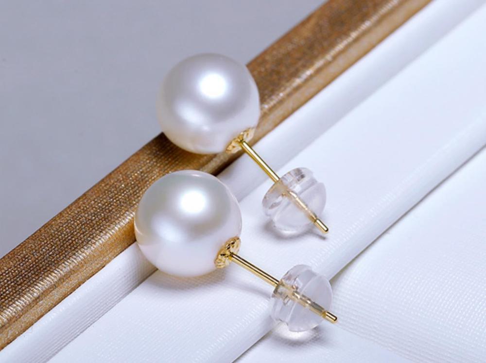 Affascinante coppia di 10-11mm south sea rotondo bianco perla orecchino 18 kAffascinante coppia di 10-11mm south sea rotondo bianco perla orecchino 18 k