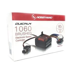 Image 1 - Электронный регулятор скорости HobbyWing quirun Brushed 1060 60A ESC 1060 с переключателем режима BEC для радиоуправляемого автомобиля 1:10