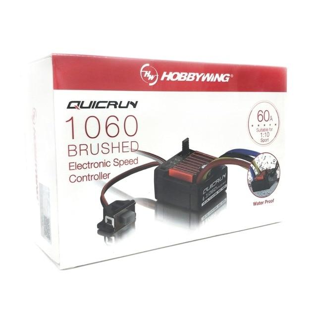 Электронный регулятор скорости HobbyWing quirun Brushed 1060 60A ESC 1060 с переключателем режима BEC для радиоуправляемого автомобиля 1:10