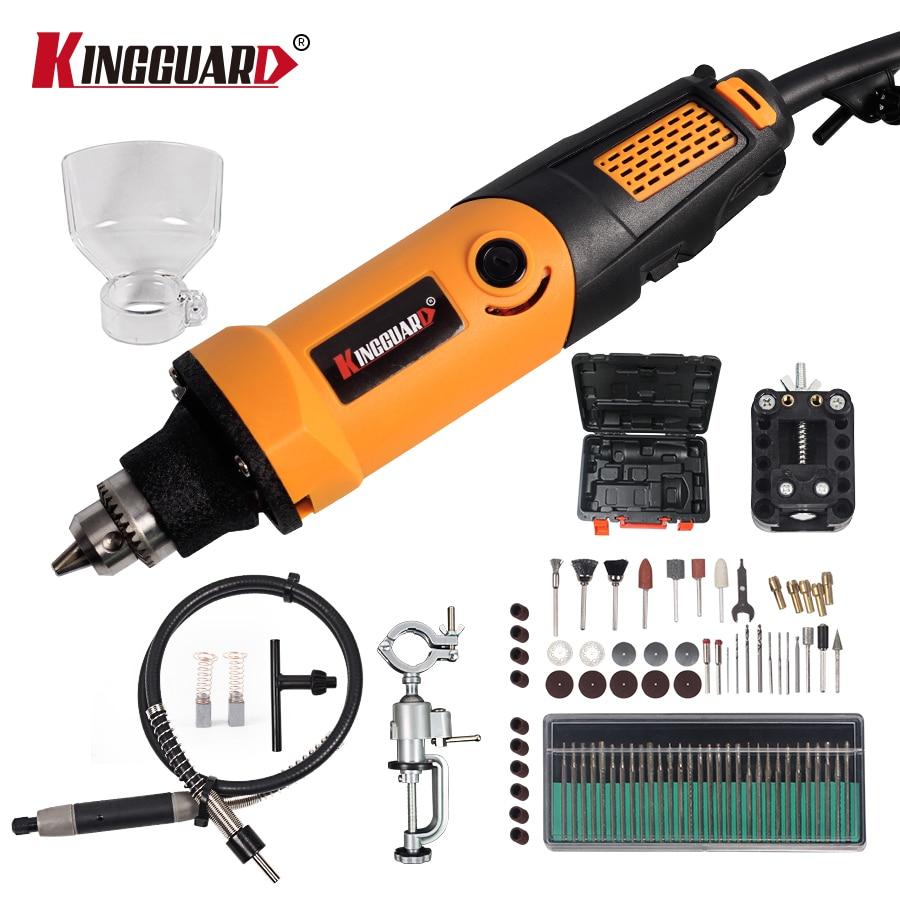 цена на KINGGUARD 84pcs 400W dremel style Electric Variable Speed for Dremel Rotary Tool Mini Drill dremel style tools grinding machine