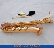 Professional Rose Brass Eb Baritone Saxophone Low A Sax High F new Case