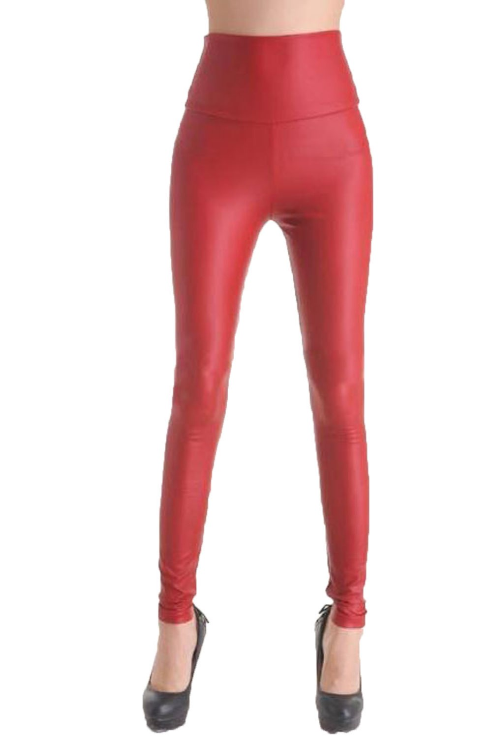 Fashion-Red-Faux-Leather-Leggings-LC7748-3-3