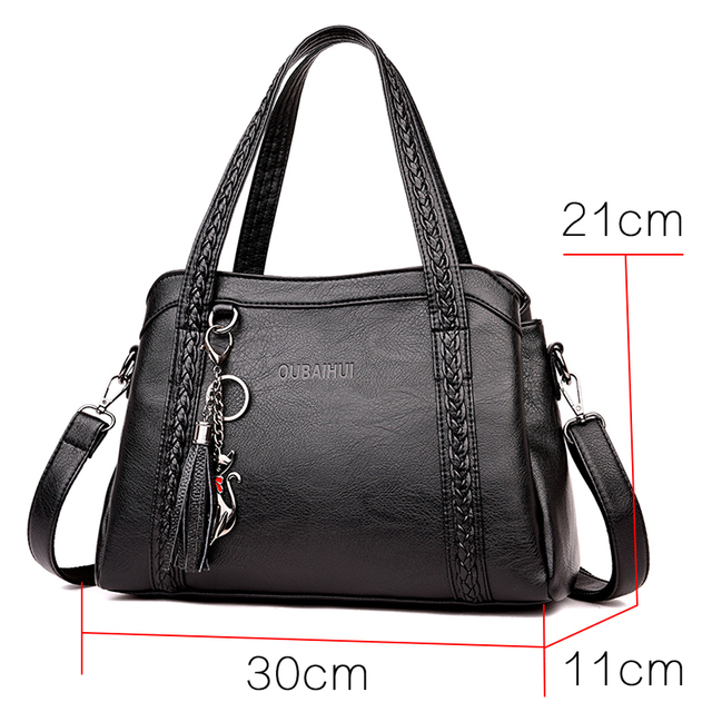 Luxurious Women Handbag Large Capacity Shoulder Crossbody Bags Women 2018 Brand Designer Handbags Soft PU Leather Big Totes Sac 1
