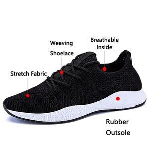 Image 3 - JUNJARM Erkekler Sneakers rahat ayakkabılar Marka erkek ayakkabısı Erkek Örgü Flats Loaferlar Nefes Erkek bağcıksız ayakkabı Bahar Sonbahar