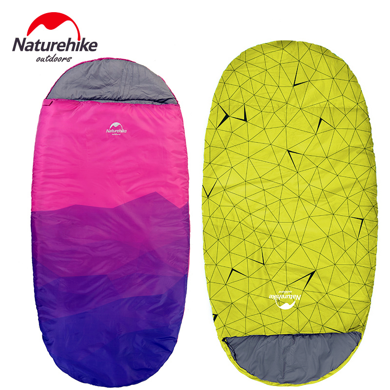 Naturehike Adult Outdoor camping sleeping bag warm Winter Sleeping Bag indoor lunch break single person portable sleeping bag nh outdoor camping indoor lunch adult sleeping bags of ultra light warm seasons can be spliced herringbone cotton bag