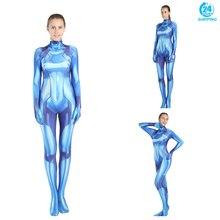 3D printing Samus Zero Aran Cosplay Costume 3D Printing Spandex Lycra Zentai Bodysuit Suit Jumpsuits  cosplay women цена