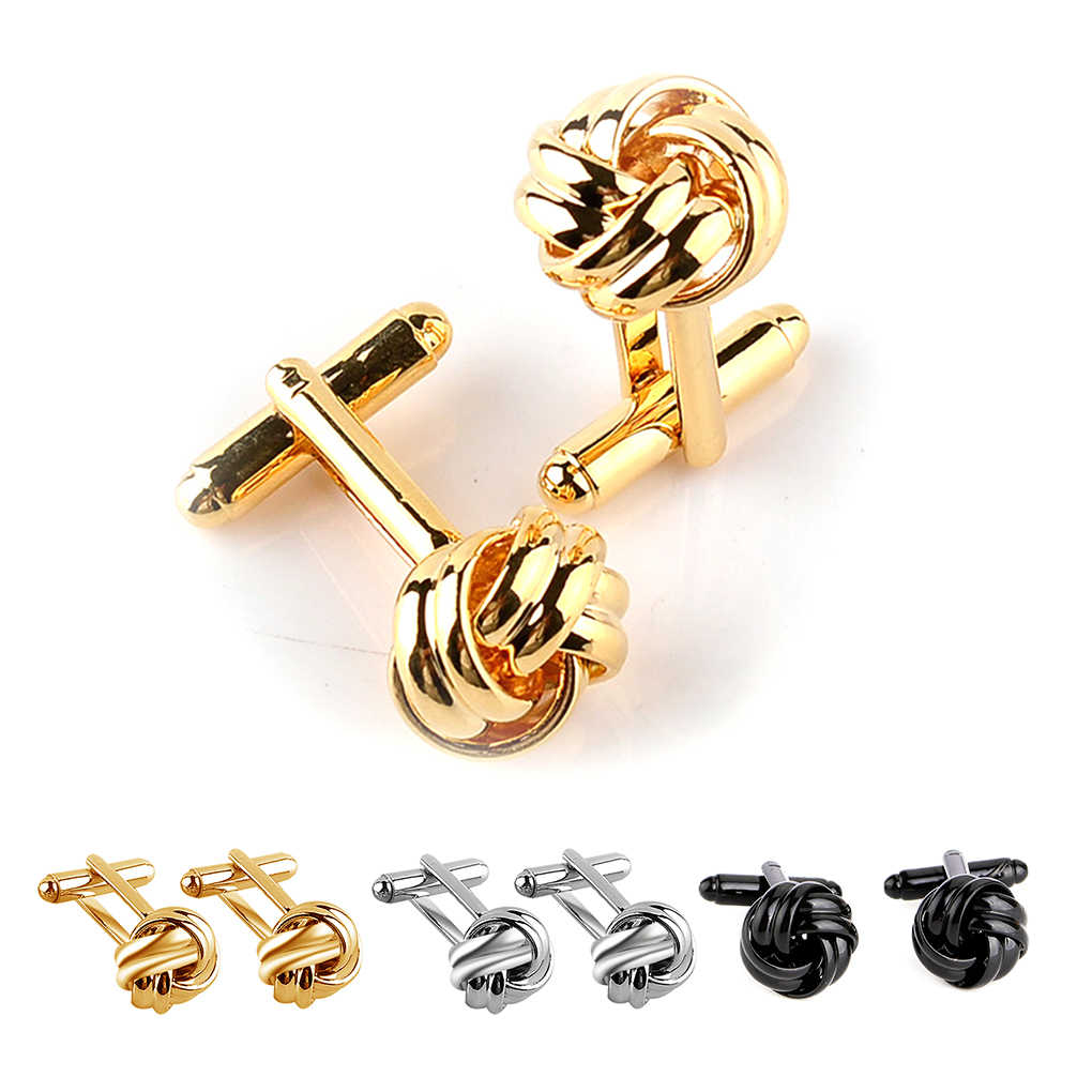 1 Pair Fashion Men Sleeve Solid Hollow Button Studs Simple Style Wedding Gentleman Male Shirt Cufflinks