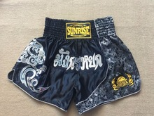 Mens muay Thai Shorts wholesale kick Boxing Shorts Sunrise  MMA Shorts