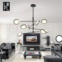 Post modern Creative Lustre Pendant Lights Two sided Luminous Tom Dixon Hanging Lamp Nordic LED Living Room Luminaire Fixtures