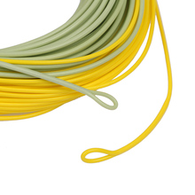 WF2F/F~WF8F/F Fly Fishing Line Double Color Weight Forward Floating Mainline with Welded Loops 100FT Goture Fishing