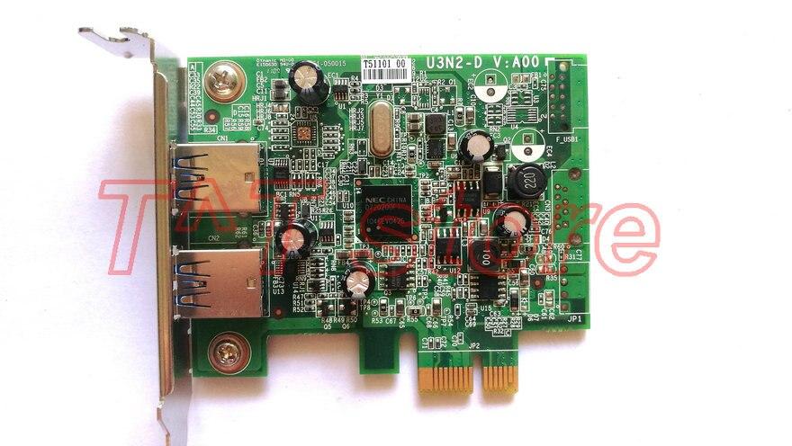 Nouveau Original FWGJ8 pour Dell ECS U3N2-D 2 ports USB 3.0 PCIe x1 profil bas carte d'extension CN-0FWGJ8 0FWGJ8 livraison gratuite