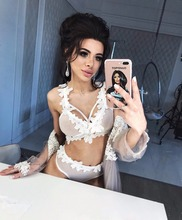 Phaixoneible New 2019 Sexy Bikini Women Swimwear Net Swimsuit Floral Bathing Suit Female Beachwear
