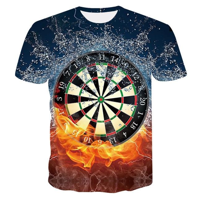 2019 nova t-shirt ocasional dos homens de Verão 3D dardo placa de dardo placa de homens e mulheres T-shirt de impressão moda casual Cool sportswear