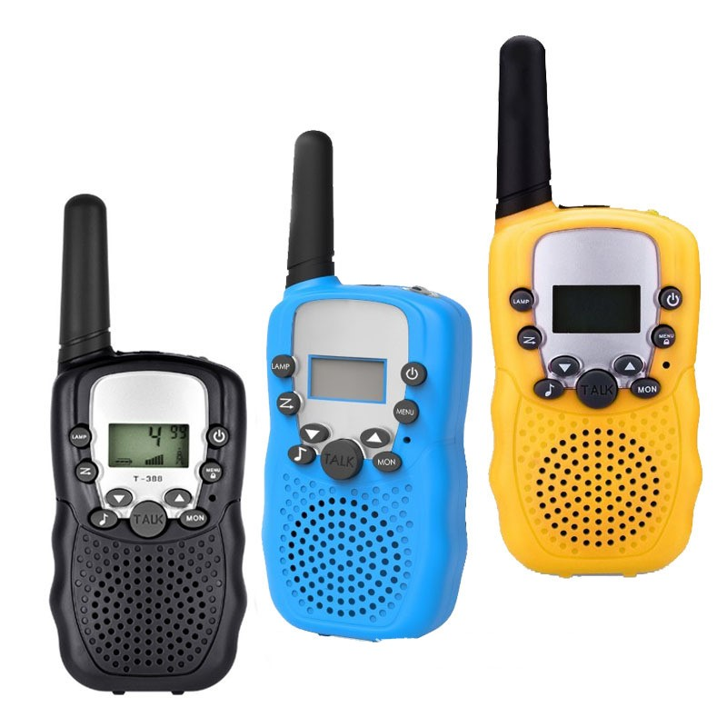 2 pcs Mini walkie talkie Radio T388 Frequency Portable Two Way Radio Gift toys for boys girls