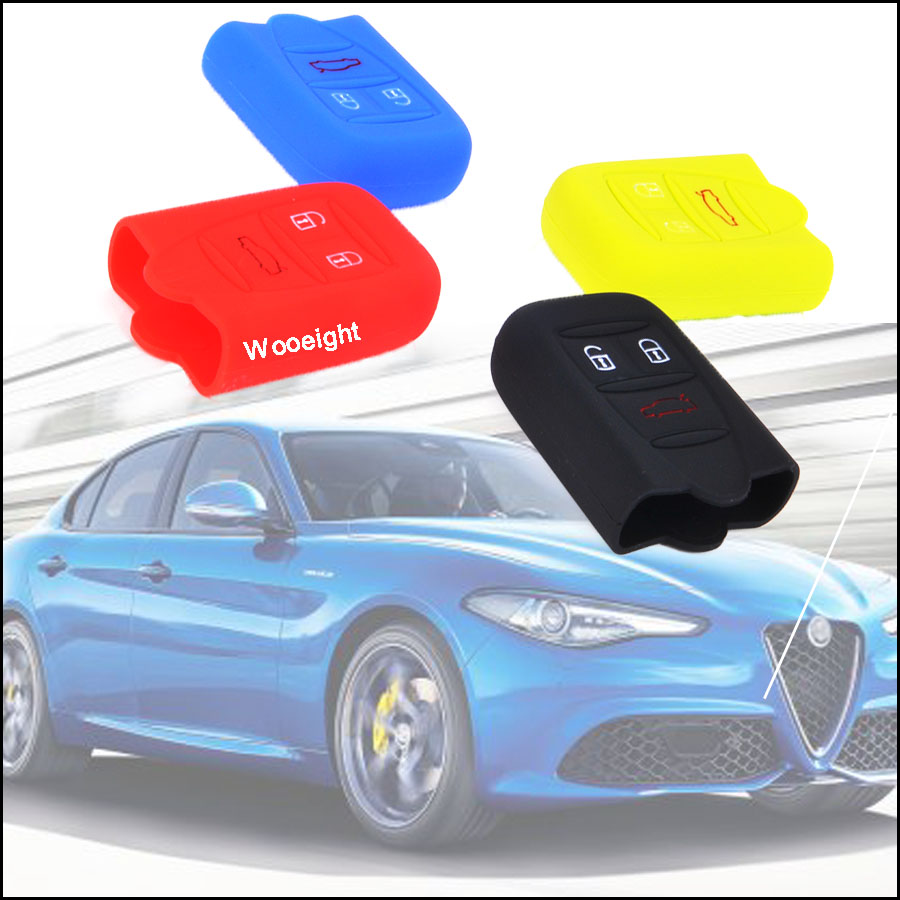 Key Case For Car Obedient 1pc 4 Colors Fashion 3 Button Silicone Rubber Key Case Cover Remote Key Shell For Alfa Romeo 159 Brera 156 Q4 Gt 946 Spider Automobiles & Motorcycles