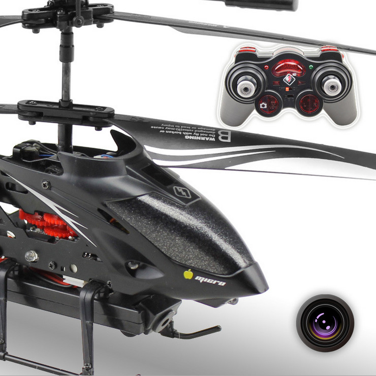 HOT! WL S977 RC Drone 3.5 CH Radio remote Control Metal Gyro rc Helicopter With HD Camera RC Helicopter Girft kid rechargeable 4 ch ir remote controlled r c helicopter w gyro black silver white