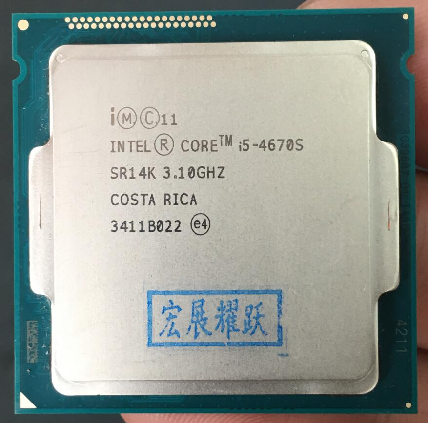 Intel Core I5-4670S  I5 4670S  Processor Quad-Core LGA1150 Desktop CPU 100% Working Properly Desktop Processor