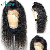NYUWA Lace Front Wigs With Baby Hair Remy Hair Natural Wave Lace Front Human Hair Wigs For Women Brazilian Wigs Bleached Knots