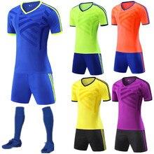 18 19 crianças + Sets Jérsei de futebol Adulto Uniformes De Treinamento De  Futebol Kit de Futebol Para Os Homens Camisa de Stand. 8ebbf28a7a8cb