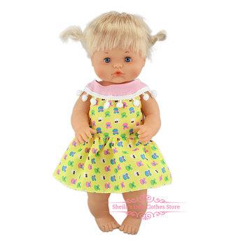 Nowa moda sukienka Fit 40cm 41 cm Nenucos lalka Nenuco Ropa su Hermanita fioletowe długie rękawy T-shirt fioletowe kropki spodnie z kapeluszem tanie i dobre opinie Tkanina CN (pochodzenie) Dress Unisex Akcesoria Suit Akcesoria dla lalek