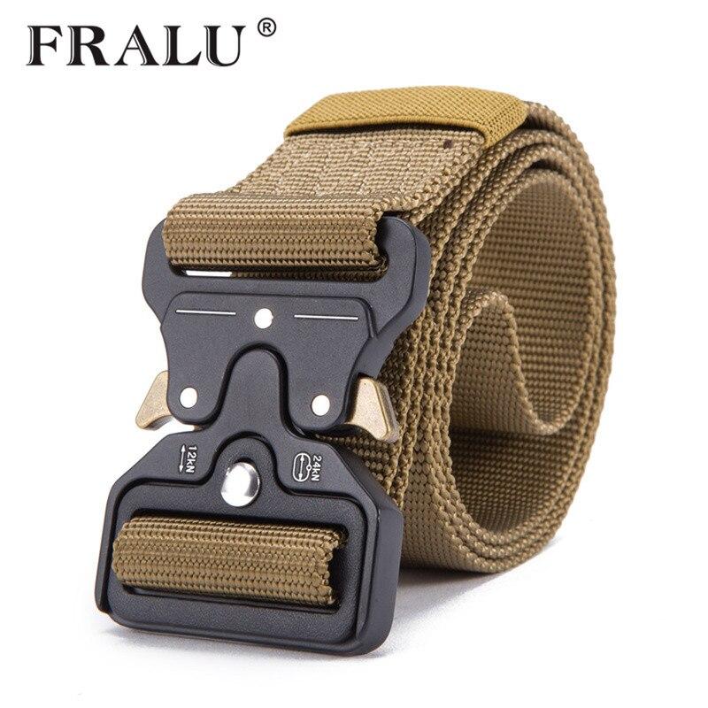 FRALU Hot Mens Tactical Belt Military Nylon Belt Outdoor multifunctional Training Belt High Quality Strap ceintures width 3.8