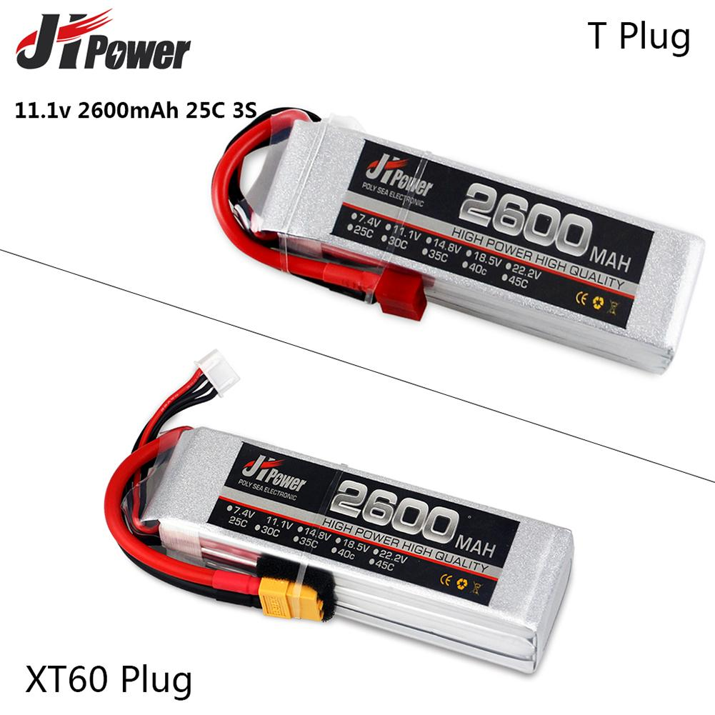 Jhpower 11.1V/3S 2600mAh 25C LiPO T/XT60 PLUG Lithium Battery Remote Control Toy RC Car Battery For RC Lithium Polymer Battery