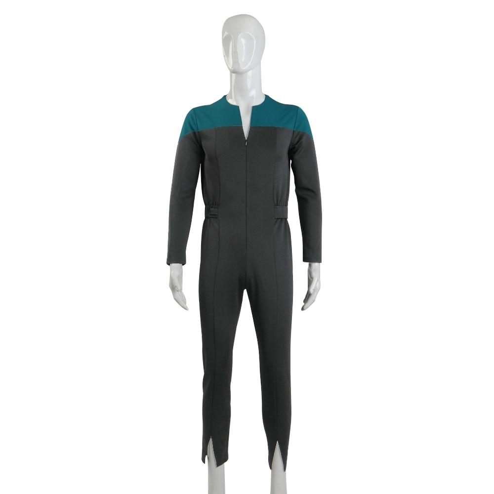 Festa de Halloween Star Deep Space Nove Trek Comandante Sisko Dever Uniforme Macacão Azul Cosplay Trajes Prop