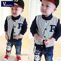 2016 autumn and winter hot boy Rome cloth striped coat black and white striped Baseball Jacket fashion casual jacket