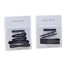 Women s invisible black barrettes Salon Bobby pins simple design long hair  grips accessories clips 8pcs  4a3cc2ce36eb