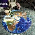 Moda ronda 80 cm tapetes earth 3d imprimir baño cocina casa carpet felpudos para salón antideslizante alfombra