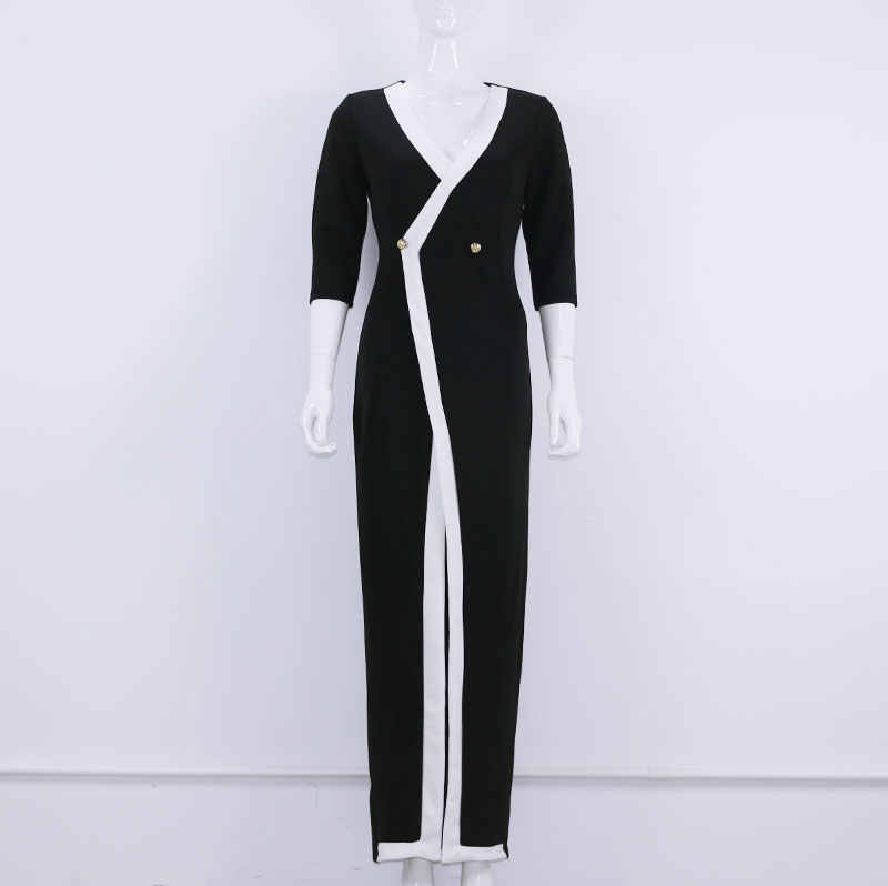 a50d38db61d17 2018 Spring Fashion Office Lady Long Sleeve Sexy Tight Dress Women Slim  Dresses With Button Free Shipping