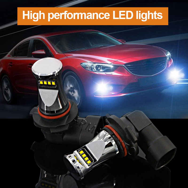 2pcs 6000K Xenon White 1800lm By Philips Chips LED 9006 HB4 9012 Bulbs Car Auto  High Beam/Daytime Running Lights/Fog Lamps 12V мультиварка philips hd4731 03 white